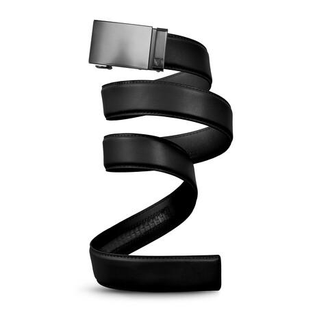 "40mm Best Sellers Leather Belt // Gunmetal + Black (Small // 28""-32"" Waist)"