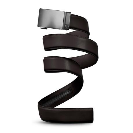 "40mm Best Sellers Leather Belt // Gunmetal + Dark Brown (Small // 28""-32"" Waist)"
