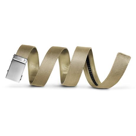 "40mm Best Sellers Nylon Belt // Steel + Tan (Small // 28""-32"" Waist)"