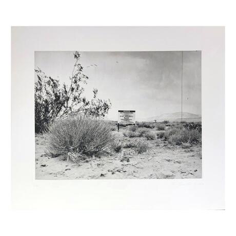Ed Ruscha // Desert Gravure // 2006