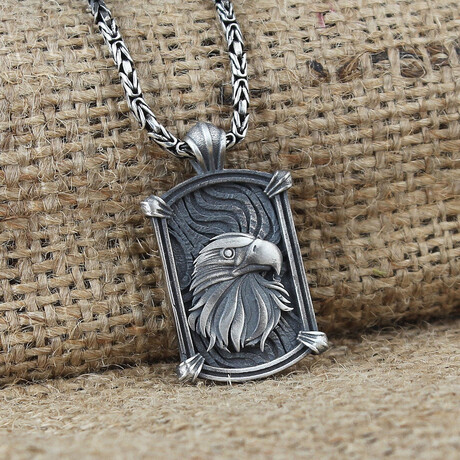 Eagle Necklace // Silver