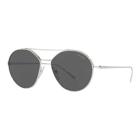 Women's PR56US-1BC5S055 Sunglasses // Silver + Gray
