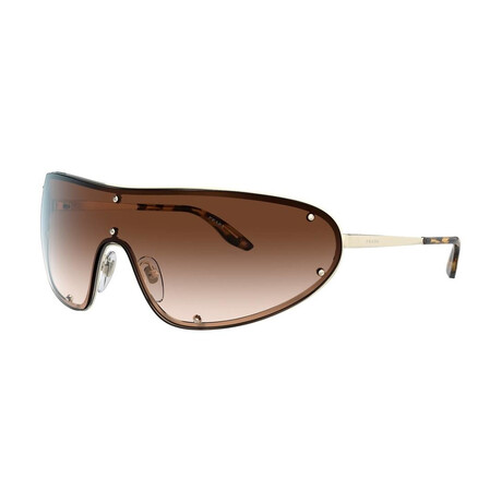 Prada // Men's PR73VS-ZVN6S140 Sunglasses // Pale Gold + Brown Gradient