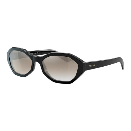 Women's PR20VS-1AB5O056 Sunglasses // Black + Gradient Gray