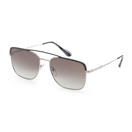 Prada // Men's PR53VS-3294S159 Sunglasses // Gunmetal + Gray Gradient Mirror