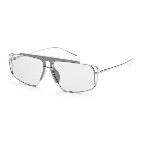 Prada // Men's PR50VS-3004Q163 Sunglasses // Silver + Gray + Light Gray