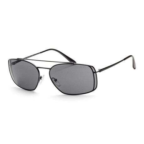 Prada // Men's PR64VS-1BO1A162 Sunglasses // Matte Black + Gray