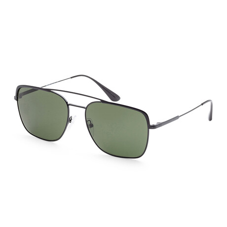 Men's PR53VS-1AB1I059 Sunglasses // Black + Green