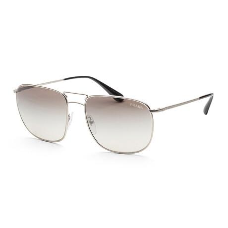 Men's PR52TS-1AP4S160 Sunglasses // Matte Silver + Gradient Gray