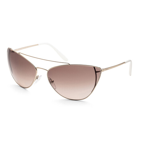 Women's PR65VS-ZVN3D068 Sunglasses // Pale Gold + Light Brown + Light Gray