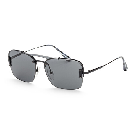 Prada // Men's PR56VS-7AX5S033 Fashion Sunglasses // Black + Dark Gray