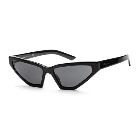 Women's PR12VS-1AB5S057 Sunglasses // Black + Dark Gray