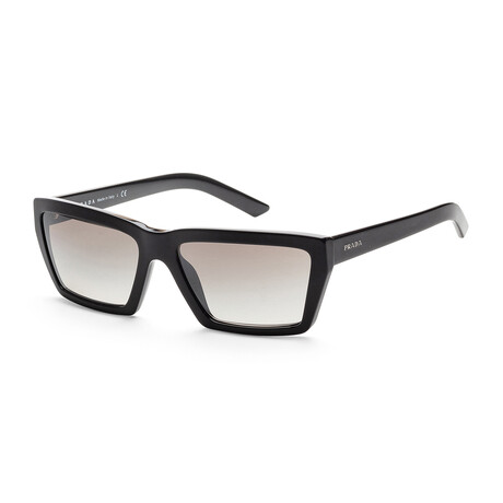 Women's PR04VS-1AB5O059 Sunglasses // Black + Gradient Gray