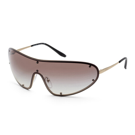 Prada // Men's PR73VS-ZVN0A7 Sunglasses // Pale Gold + Gray Gradient