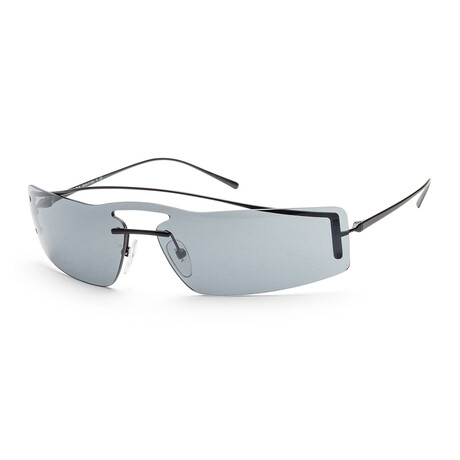 Men's PR61VS-1AB5L038 Sunglasses // Black + Gray Mirror Black