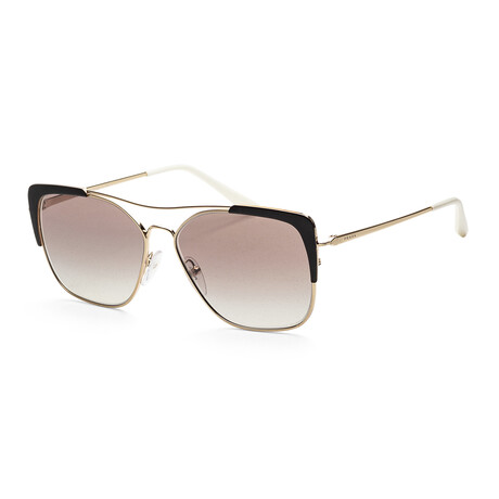 Women's PR54VS-AAV5O058 Sunglasses // Pale Gold + Black + Gradient Gray