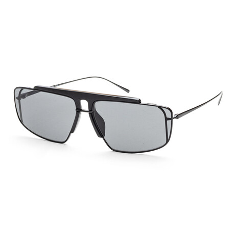 Prada // Men's PR50VS-1AB9K163 Sunglasses // Black + Blue