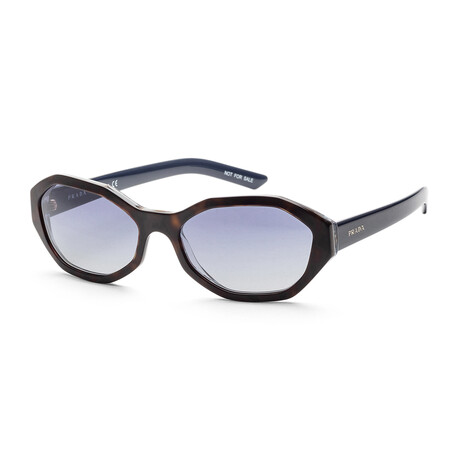 Women's PR20VS-5123A056 Sunglasses // Havana + Blue + Gray Gradient + Blue Mirror