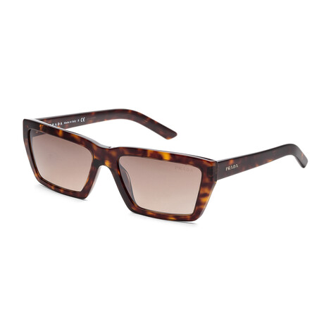 Women's PR04VS-2AU4P057 Fashion Sunglasses // Havana + Brown Gradient