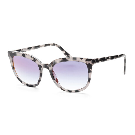 Women's PR03XS-51072553 Sunglasses // Gray Havana + Clear Gradient Blue Mirror