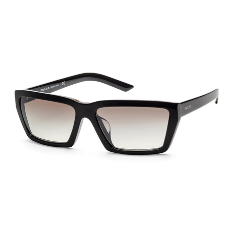 Women's PR04VSF-1AB5O059 Sunglasses // Black + Gradient Gray