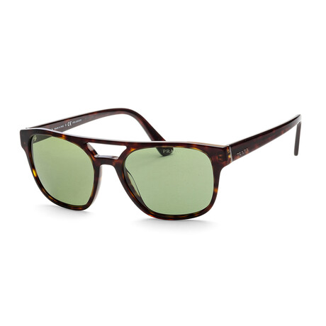 Prada // Women's PR23VS-2AU7Y156 Polarized Sunglasses // Havana + Polar Green