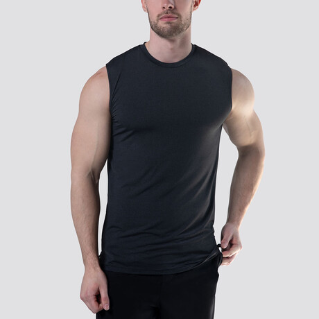 SilkTek™ Training Sleeveless Tee // Heather Black (Extra Small)