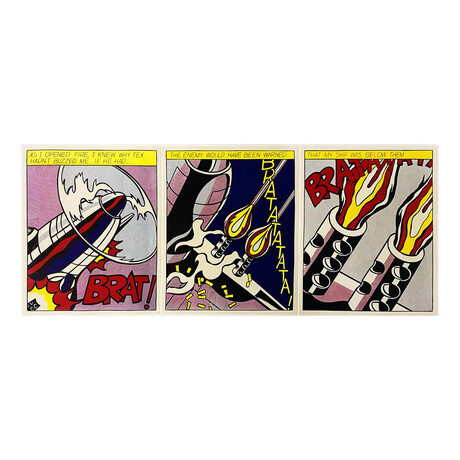 Roy Lichtenstein // Poster: As I Opened Fire // 1966