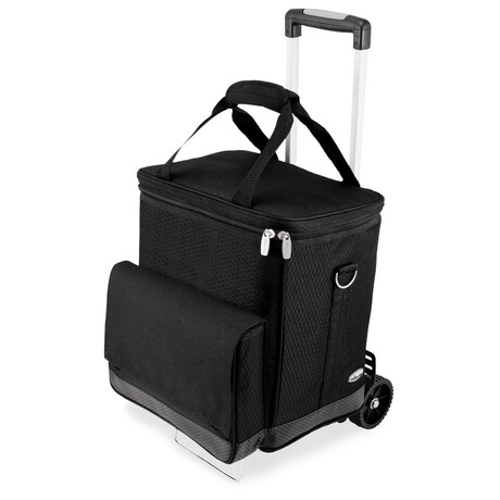 Cellar 6-Bottle Wine Carrier + Cooler Tote with Trolley