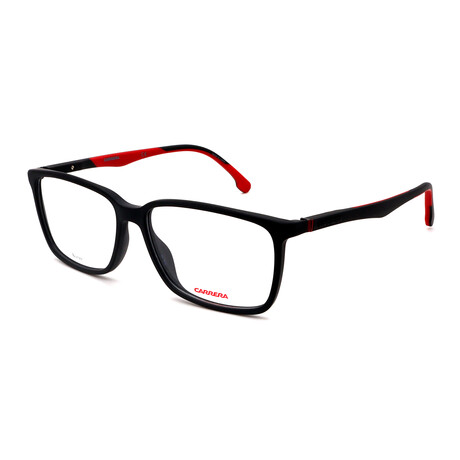 Carrera // Unisex Rectangular Glasses // Matte Black