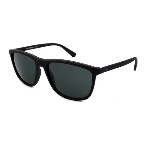 Emporio Armani // Men's 0EA4109-575671 Square Sunglasses // Matte Black