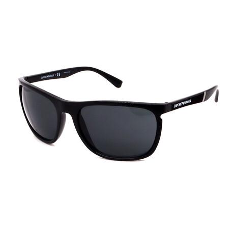 Emporio Armani // Men's Square Sunglasses // Matte Black