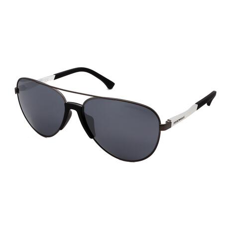Emporio Armani // Men's Aviator Sunglasses // Gunmetal
