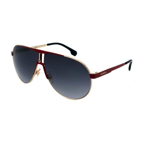 Carrera // Unisex Pilot Sunglasses // Red + Gold