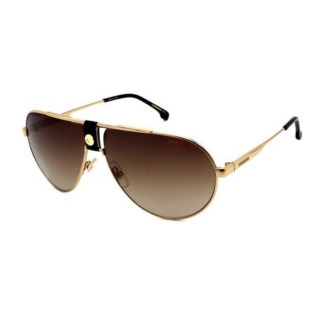 Carrera // Men's Aviator Sunglasses // Gold