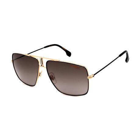 Carrera // Unisex Rectangular Sunglasses // Black + Gold