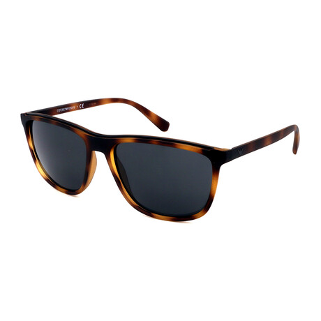 Emporio Armani // Men's Square Sunglasses // Matte Tortoise