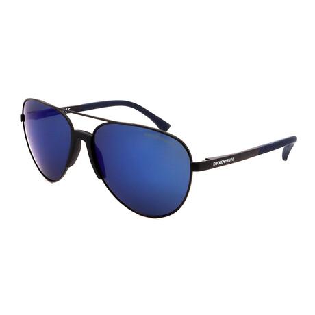 Emporio Armani // Men's Aviator Sunglasses // Matte Black