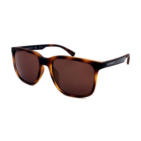Emporio Armani // Men's 0EA4104F-559473 Square Sunglasses // Matte Tortoise