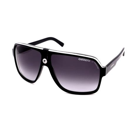 Carrera // Unisex Aviator Sunglasses // Black + White