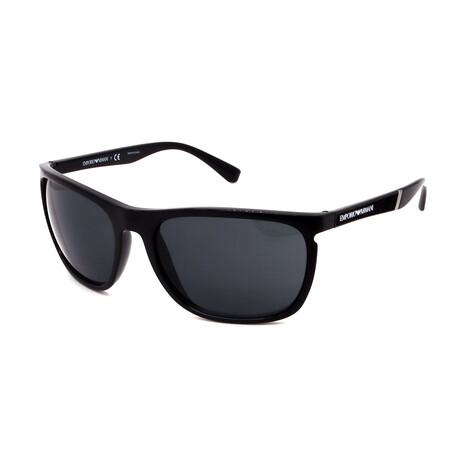 Emporio Armani // Men's Square Sunglasses // Black