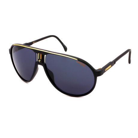 Carrera // Men's Pilot Sunglasses // Matte Black + Gold