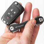 KeySmart Leather Compact Key Holder (Black)