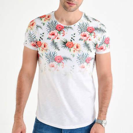 Floral T-Shirt // White (S)