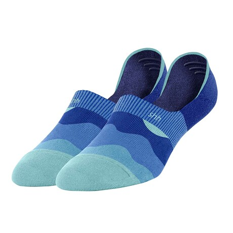 Unisex No-Show Socks // Nama Stay Grounded: Ebb & Toe // Blue (US Men's Size 6-9.5)