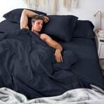 Classic Cool & Crisp 100% Cotton Percale Pillowcase // Set of 2 // Dark Navy (Standard/Queen)