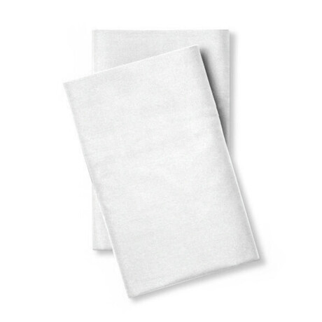 Classic Cool & Crisp 100% Cotton Percale Pillowcase // Set of 2 // White (Standard/Queen)