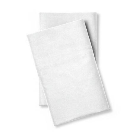 Classic Cool & Crisp 100% Cotton Percale Pillowcase // Set of 2 // White (Standard/Queen)