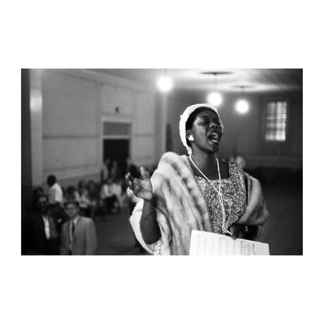 """Dinah Washington Sings At A Church Service (20""""W x 16""""H)"""