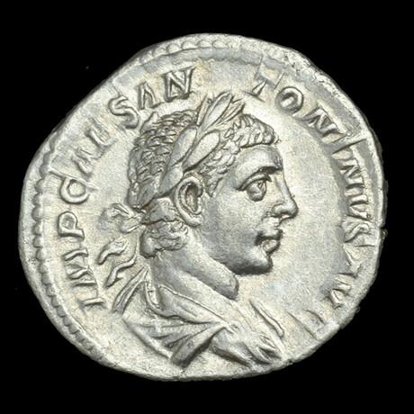 Roman Imperial Silver Denarius // Emperor Caracalla. III Century A.D.